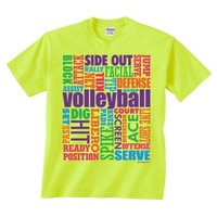 Volleyball Words T-shirt