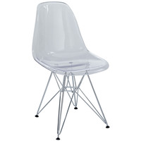 Modway Eiffel Dining Chair In Clear EEI-220-CLR