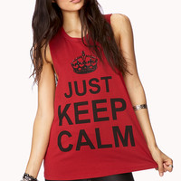 Just Keep Calm Muscle Tee