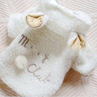 Pet Puppy Dog Clothes Cute White Sheep Warm Hoodie Coat Apparel = 1932239876