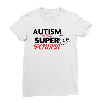 Autism Is My Super Power Ladies Fitted T-Shirt