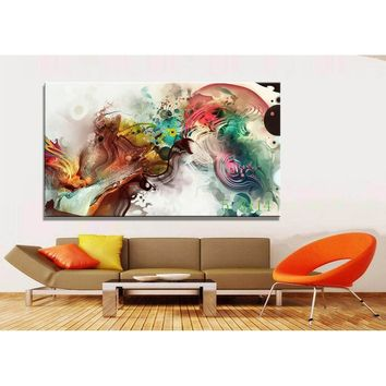 Popular World Art Fashion Large HD Photo Canvas Print Painting Art Wall Decorative Oil Painting
