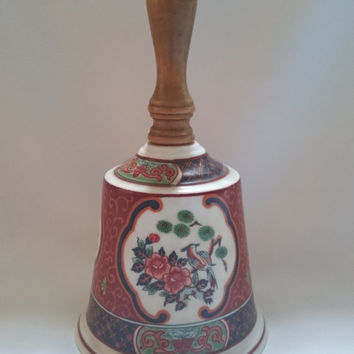 Beautiful vintage working porcelain bell, 1970's English made