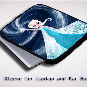Disney Frozen Elsa ART Y1376 Sleeve for Laptop, Macbook Pro, Macbook Air (Twin Sides)