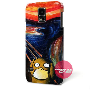Psyduck Scream Acrylic Canvas Painting Samsung Galaxy Case Cover Series