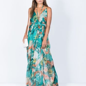 Pretty Watercolor Maxi Dress