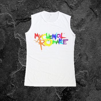 My Chemical Romance Tank Top T Shirt Women TShirts Sleeveless Vest Size S M L