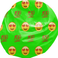 Lime Green/Emoji Bean Bag created by trilogy-anonymous | Print All Over Me