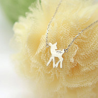 Bambi Baby deer Necklace