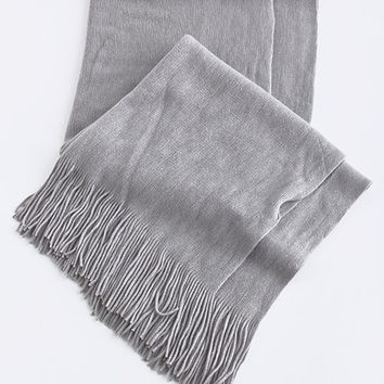 Fringed Winter Scarf