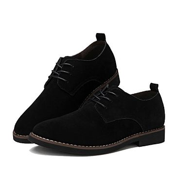 PU Leather Shoes for Men Casual Oxfords New Arrival High Quality Fashion Cow Suede Leather Flats Luxury Brand Moccasins