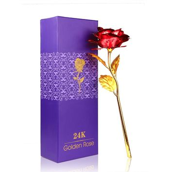 Kunstbloemen 24K Golden Rose - Valentines Day Gift & Free Shipping