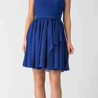 Starbox USA 6064 Ruched Bodice Short Strapless Bridesmaids Dress Royal Blue