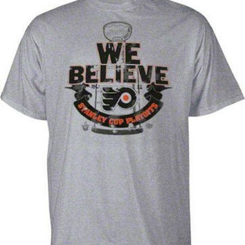 Philadelphia Flyers We Believe Stanley Cup t-shirt Old Time Hockey new NHL