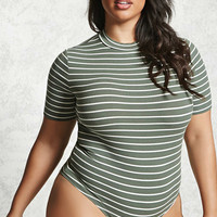Plus Size Stripe Bodysuit