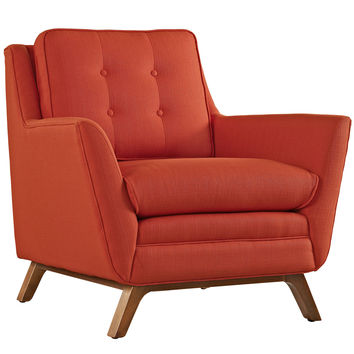 Beguile Fabric Mid- Century Armchair