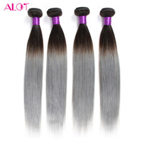 7a Grey Hair Extensions Indian Straight Virgin 4 Bundles Very Soft