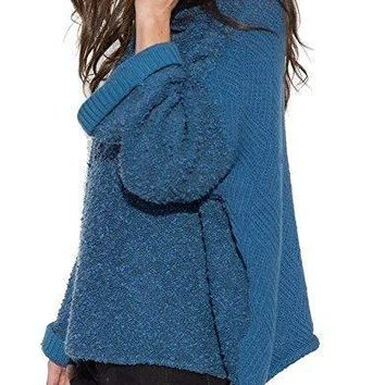 Free People Womens Cuddle Up Knitted Pullover Sweater e4eb1c283