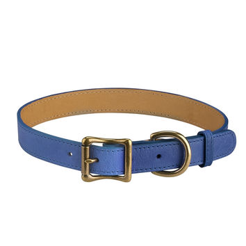 A Dog Collar Italian Leather | Blue