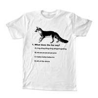 what does the fox say T-shirt unisex adults