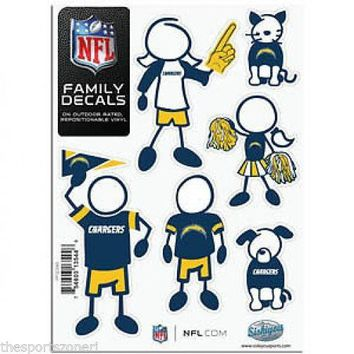 San Diego Chargers Family Decals Set of 6