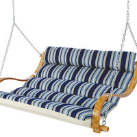Deluxe Marquis Double Swing, Blue, Outdoor Porch Swings