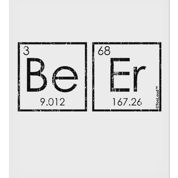 "Be Er - Periodic Table of Elements 9 x 10.5"" Rectangular Static Wall Cling by TooLoud"
