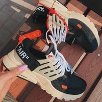 Off White X Nike Air Presto Gym Shoes-3