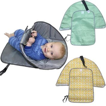 MUQGEW diaper changing mat Clean Hands Changing Pad Portable Baby 3in1 Cover Mat Folding Diaper Bag Kit changing pad