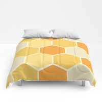 Yellow Honeycomb Comforters by spaceandlines