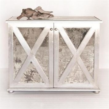 Worlds Away Clayborn Reverse Mirror Chest