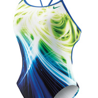 NIKE SWIM Galactic Opera Female Cut-Out Tank - Metro Swim Shop