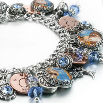 Dr. Who Charm Bracelet, Steampunk Jewelry