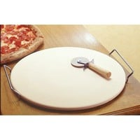 "15"" Diameter Pizza Stone and Accessories"