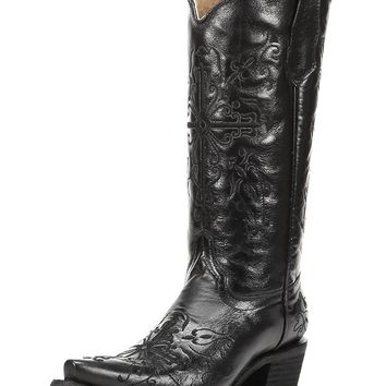 Corral Women's Cross Embroidery Snip Toe Western Boots