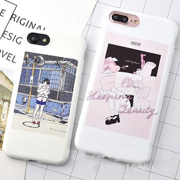 Kawaii Cartoon Girl Soft TPU Diamond Case Cover For iPhone 8/7/7 plus/6s/6s plus