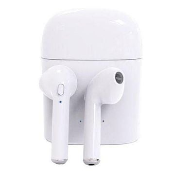 Trending Harseez Stylish Bluetooth Headphones Wireless Earbuds Stereo Earphone Cordless Sport Headsets for Iphone AirPods iphone 8, 8 plus, X, 7, 7 plus, 6s, 6S Plus with White Charging Case