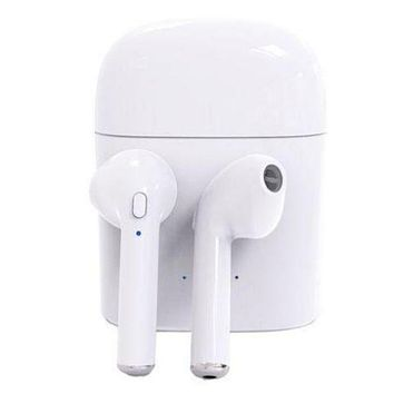 [FREE SHIPPING] Stylish Bluetooth Headphones Wireless Earbuds Stereo Earphone Cordless Sport Headsets for Iphone AirPods iphone 8, 8 plus, X, 7, 7 plus, 6s, 6S Plus with White Charging Case