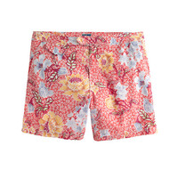"J.Crew Mens 6.5"" Tab Swim Short In Stained-Glass Floral"
