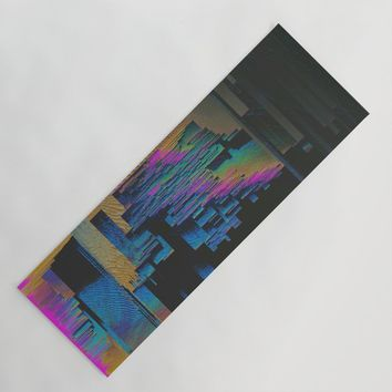 Bismuth Crystal Yoga Mat by duckyb
