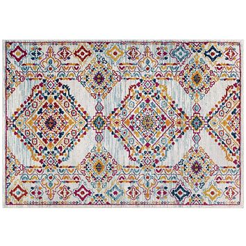 Entourage Khalida Distressed Floral Lattice 8x10 Area Rug