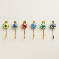 Painted Ceramic Hooks, Set of 6 - World Market
