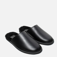FLAT LEATHER SLIPPER SHOES - View all-SHOES-WOMAN | ZARA United Kingdom
