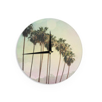 "Sylvia Coomes ""Palm Trees"" Coastal Photography Wall Clock"