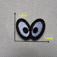 1PCS Wacky cartoon animal eyes Hot melt adhesive clothing patch applique embroidery blossom DIY accessories C339 patch