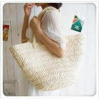 43x23CM / Day Popular Hand / Straw Bag L Tassel Bag Vienna Style Bag Simple Seven Shares Identified A2850