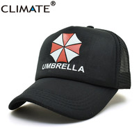 Youth Resident Evil Umbrella Summer Cool Black Mesh Trucker Caps Baseball Adjtable For Men Women summer cool