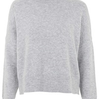 Zip Back Roll Neck Jumper - Topshop