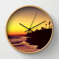 Sunset Wall Clock by Yoshigirl