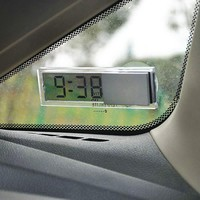 Hot Car Ornaments Durable Digital LCD Display Car Electronic Clock With Sucker Cool Free Shipping #EA10431